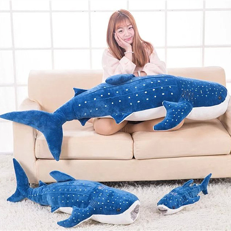 <font><b>Blue</b></font> <font><b>whale</b></font> <font><b>plush</b></font> toy lovely dolphins children's toy sleep pillow gift for girlfriend children image