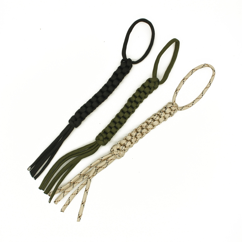 Yofeil 2Pcs/lot Outdoor Camping Corn Knot Nylon Chain Tool Ornaments Knife Pendant Falling Keychain DIY Tools Paracord Rope