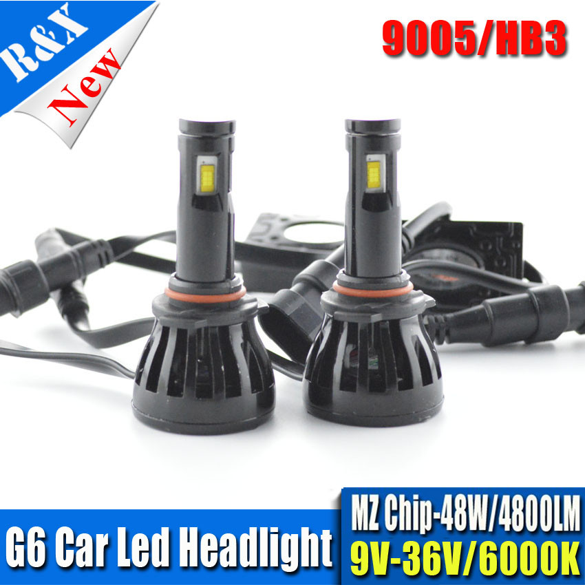 Set LED Car Headlight Bulbs Car LED Lights H4 H13 H7 H11 9005 9006 96W 9600LM MZ Chips LED Automobiles Head Lamp Front Light