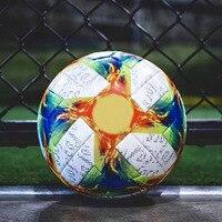 High Quality 2019 Official Size 5 Size 4 Football Ball Pu Slip resistant Seamless Match Training Soccer Ball Football Equipment