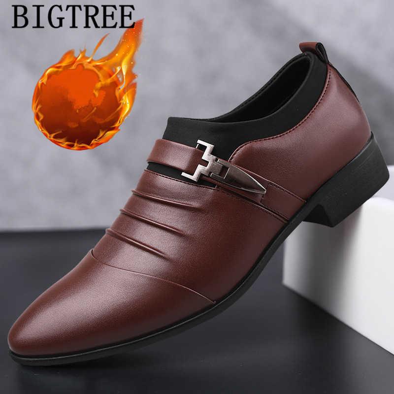 Krótkie pluszowe skórzane buty męskie buty sukienka klasyczne slip on mężczyzna formalne buty męskie zapatos oxford hombre herren schuhe italienisch