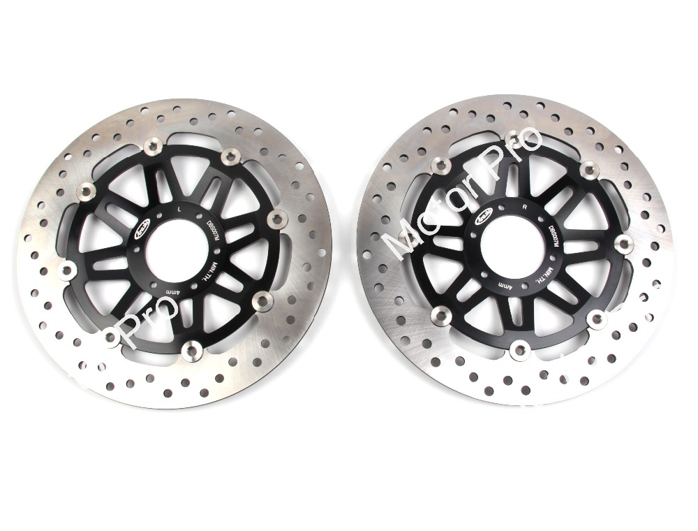 2 PCS FOR HONDA CB400 SB CB 400 SUPER FOUR CB 400 SUPER BOL D'OR 2005 Floating Front Brake Disc Rotor brake disk CNC aluminum keoghs motorcycle brake disc brake rotor floating 260mm 82mm diameter cnc for yamaha scooter bws cygnus front disc replace