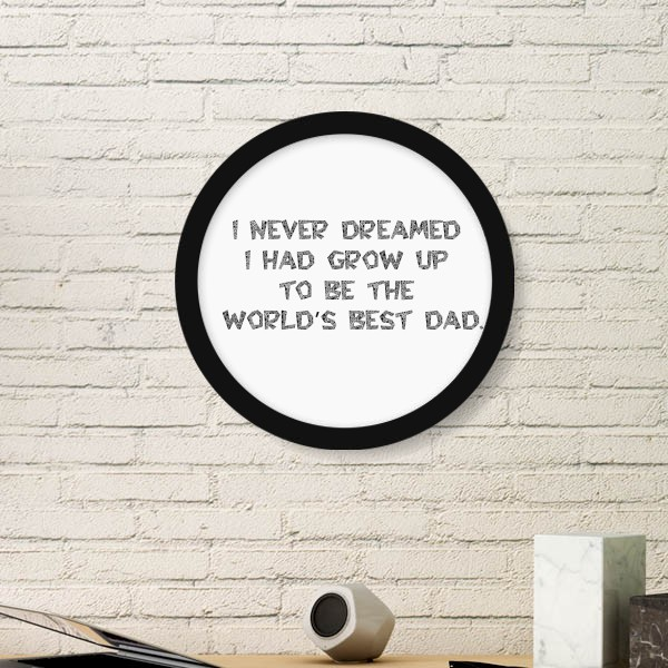 Best Father Day Dad Papa Universe Festival Quote Picture Round Frame ...