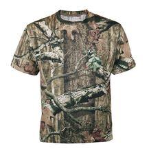 Мужская дышащая летняя охотничья футболка бионическая камуфляжная