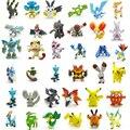 24 unids/set 2-3 cm Figuras Figuras de Mini Lindo Pikachu Pokeball Monstruo Juguetes Modelo Al Azar Colección Anime Brinquedos Niños juguetes # E