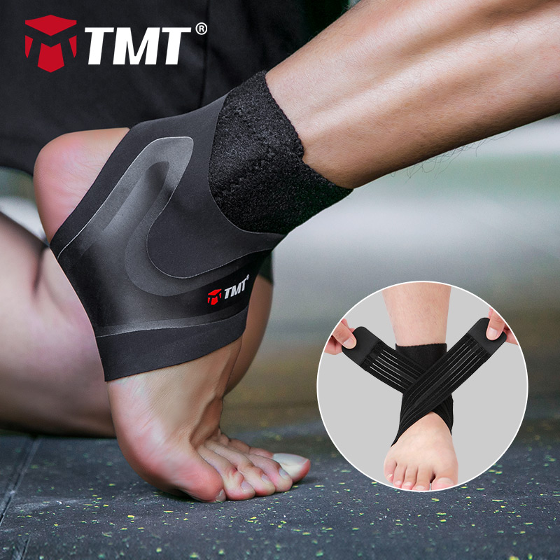 TMT Sport Breathable Ankle Brace Protector Adjustable Ankle Support Pad Protection Elastic Brace Guard Support Football