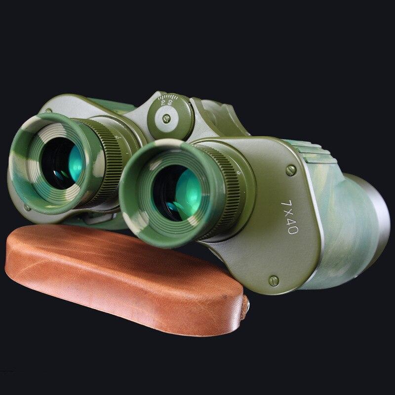 Военный стандарт все металлические 95 Стиль 7X40 Hd широкоугольный зум диапазон бинокль телескоп низкий уровень освещения монокуляр ночного в