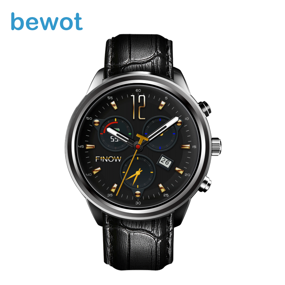 bewot Android Smart Watch X5 Air 1.39 AMOLED Display 3G Heart Rate Monitor WristWatch Bluetooth SmartWatch for iOS Android