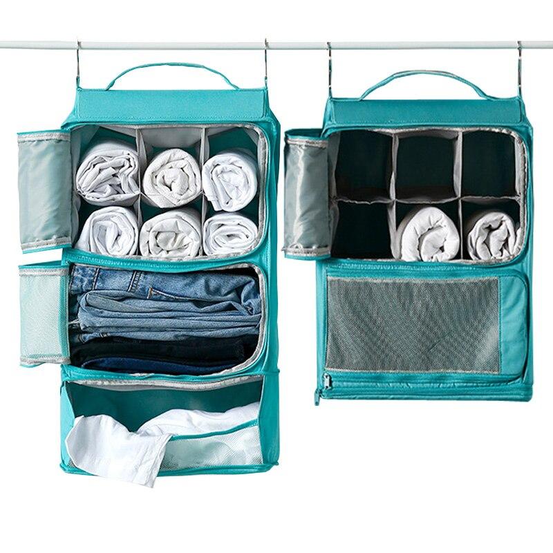 Sac de rangement de voyage Portable crochet suspendu sac en filet organisateur de stockage garde-robe vêtements chaussures stockage support étagères