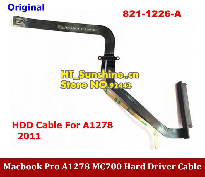 1PCS New HDD Cable for 13 Macbook Pro A1278 MC700 MB990 MB991 2011 821-1226-A original hdd cable for 13 macbook pro a1278 101 102 md313 md314 mc723 hdd cable 821 1480 a 2pcs lot