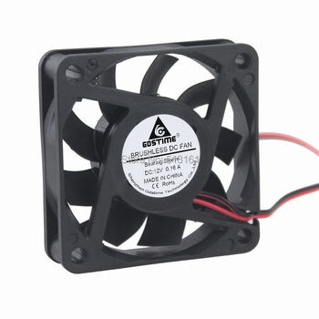 10pcs/lot Gdstime 2Pin 60mm 60X60x15mm 12V DC Brushless Cooling Fan 6cm Cooler
