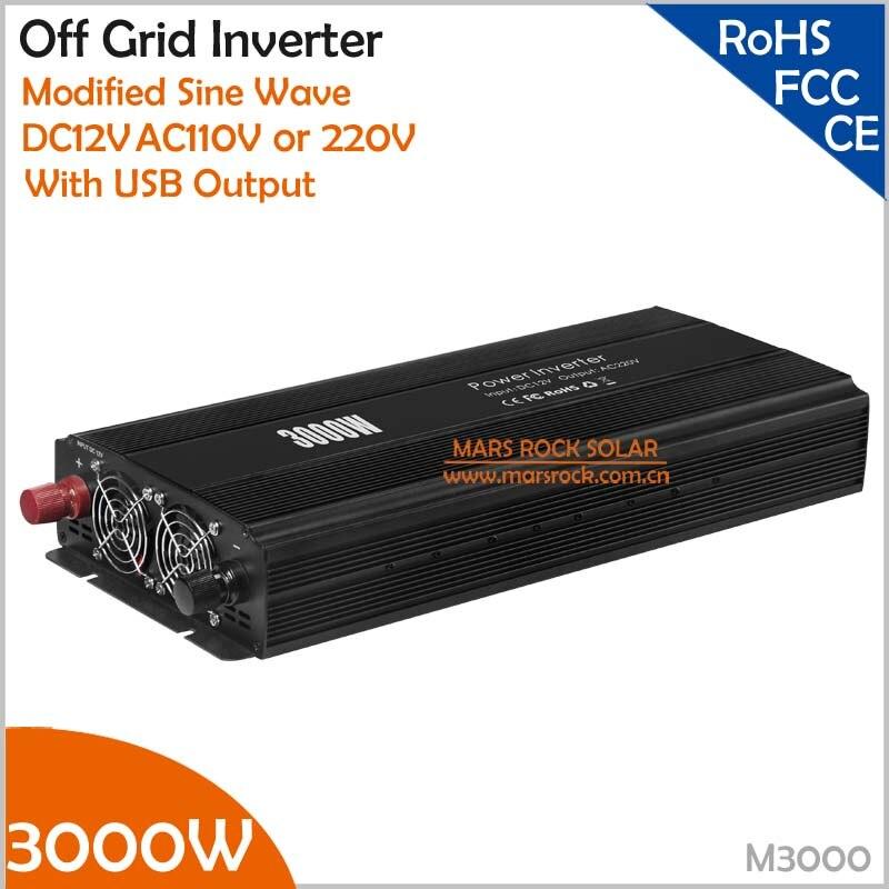Новый экономичный 3000 Вт решетки инвертор 12 В постоянного тока в AC 110 В/220 В модифицированный синусоидальный преобразователь с двойным выходо