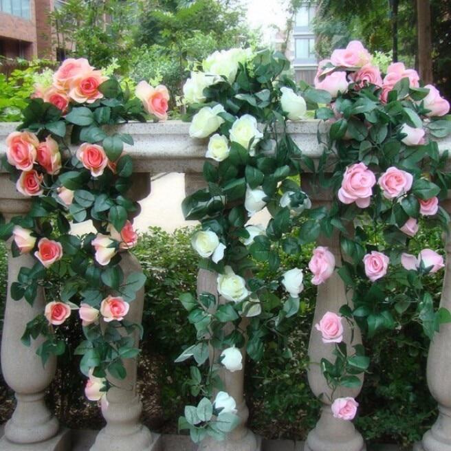 90cm kunstlik siidist roosikirvri võltslill Ivy viinamarjade lehed - Pühad ja peod - Foto 5