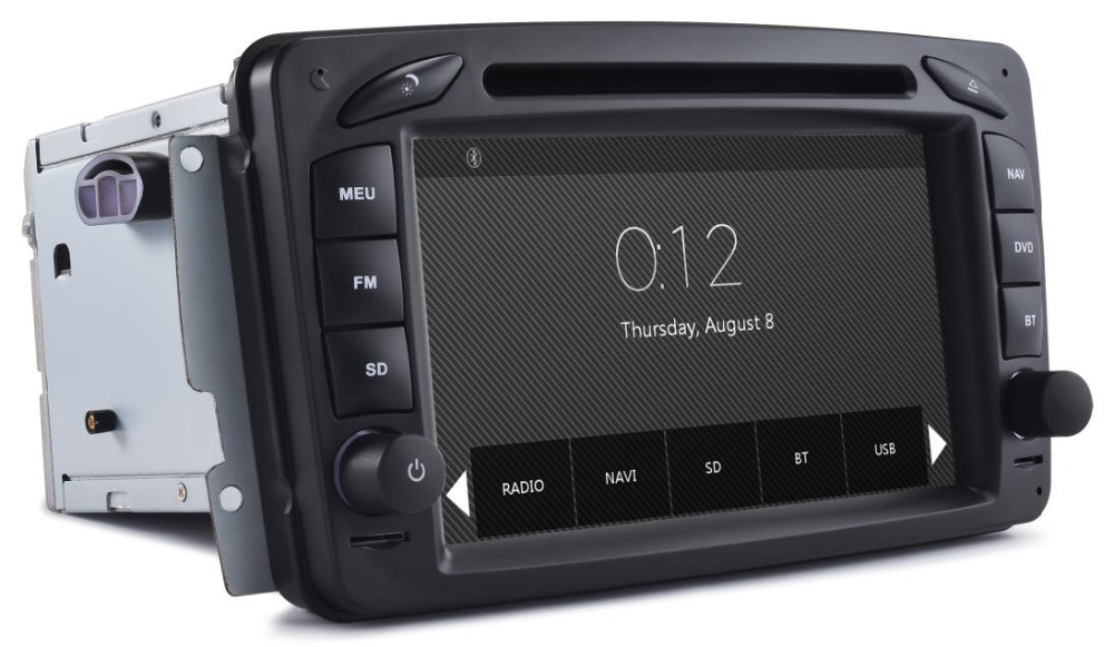Autoradios 2din GPS Mercedes-Benz Vaneo Viano Vito A-W168 C-W203 CLK-C209 W209 G-W463 BT Radio RDS 3G Free 8GB map Card - Auto-plus Store store