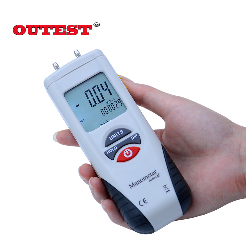HT-1890 Digital display Manometer gauge/Digital Manometer Air Pressure Meter Gauge Kit  Micro-manometer portable digital lcd display pressure manometer gm510 50kpa pressure differential manometer pressure gauge
