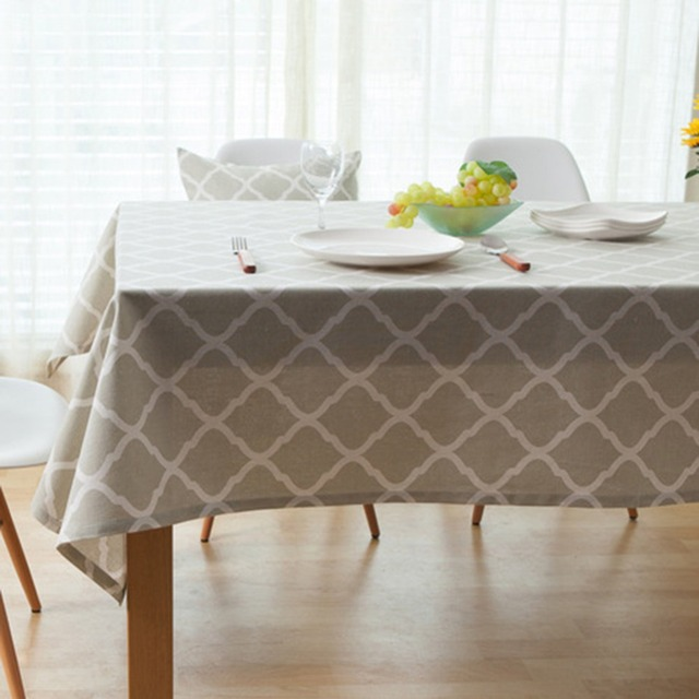 Plain Linen Tablecloths Pastoral Style Table Cloth TV Computer Table Cover  Cloth For Desk And Sofa