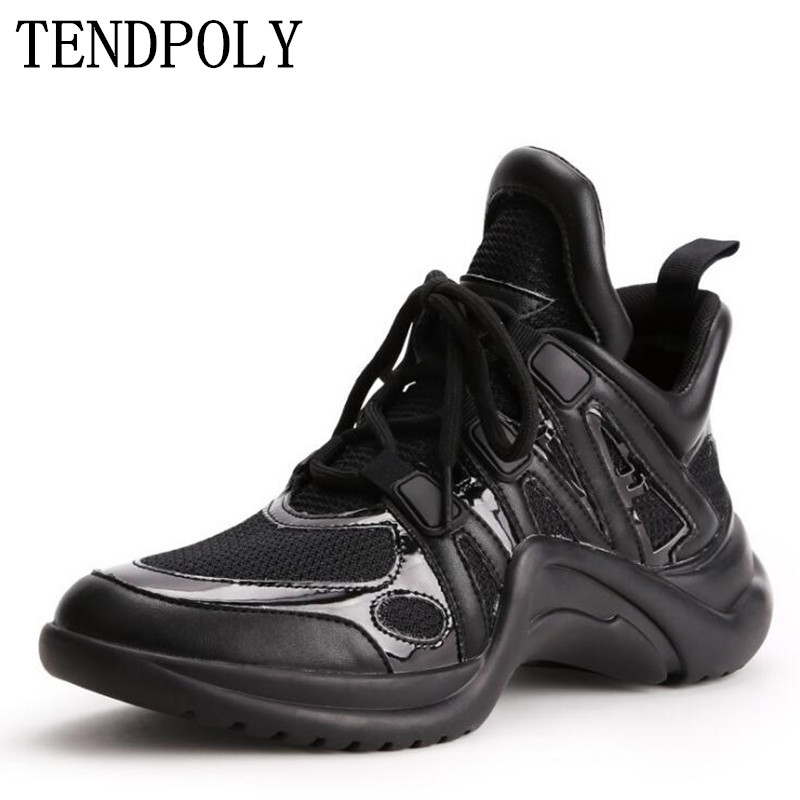 New women s shoes spring autumn fashion sneakers mesh thick sole single shoes classic women shoes