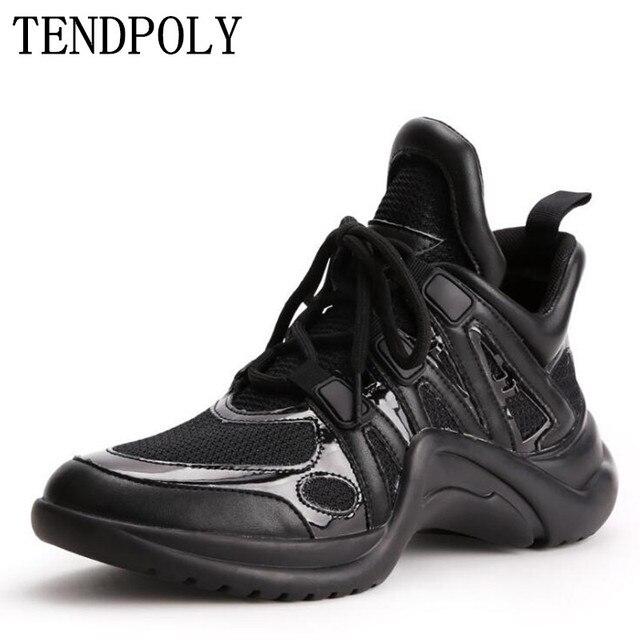 Mới nam nữ thu xuân Giày thời trang lưới đế dày giày đơn nữ cổ điển thoáng khí mềm giày thường
