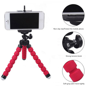 Image 2 - ミニ三脚電話クリップで柔軟なスポンジタコ三脚bluetoothリモートシャッターポケット三脚携帯iphoneなど