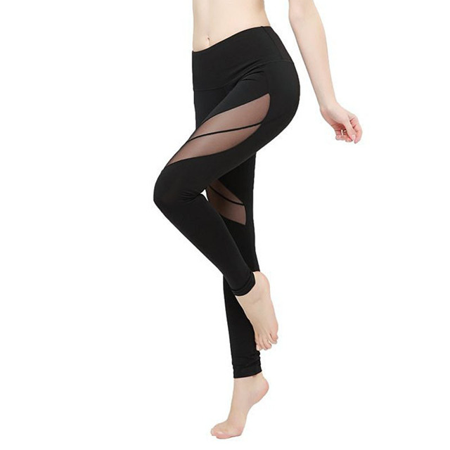 6499d968de3c68 Ropa Deportiva Mujer Transparent Women Sport Leggings Gym Mesh Splice Sexy  Running Tights Gym Clothing Fitness leggin Yoga Pants