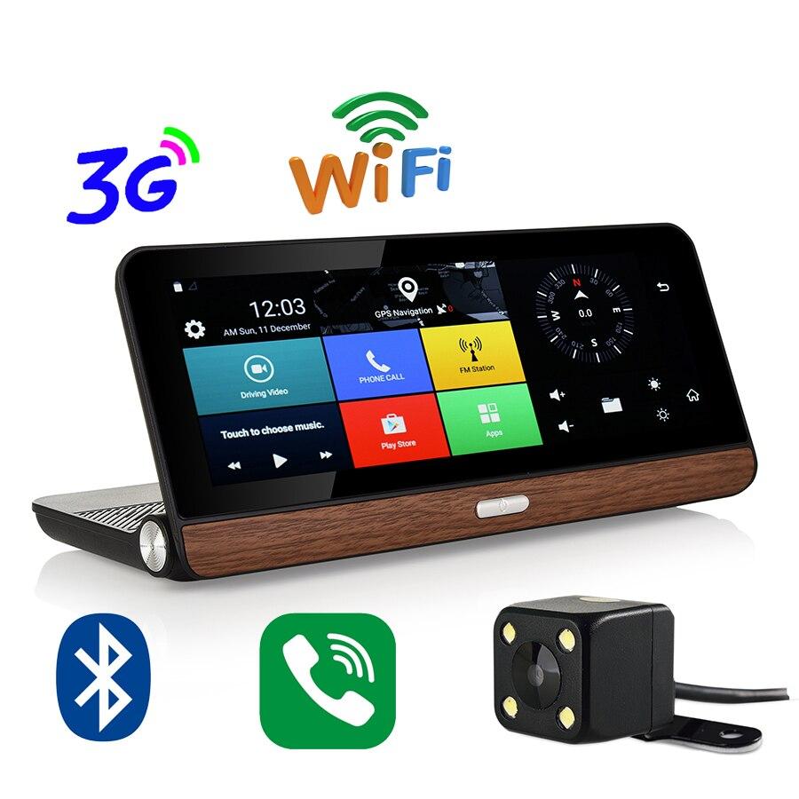 Otstrive 8 pouces 3G tableau de bord GPS Android 5.0 WiFi bluetooth appel téléphonique DVR Full HD 1080 P enregistreur vidéo vue arrière caméra GPS