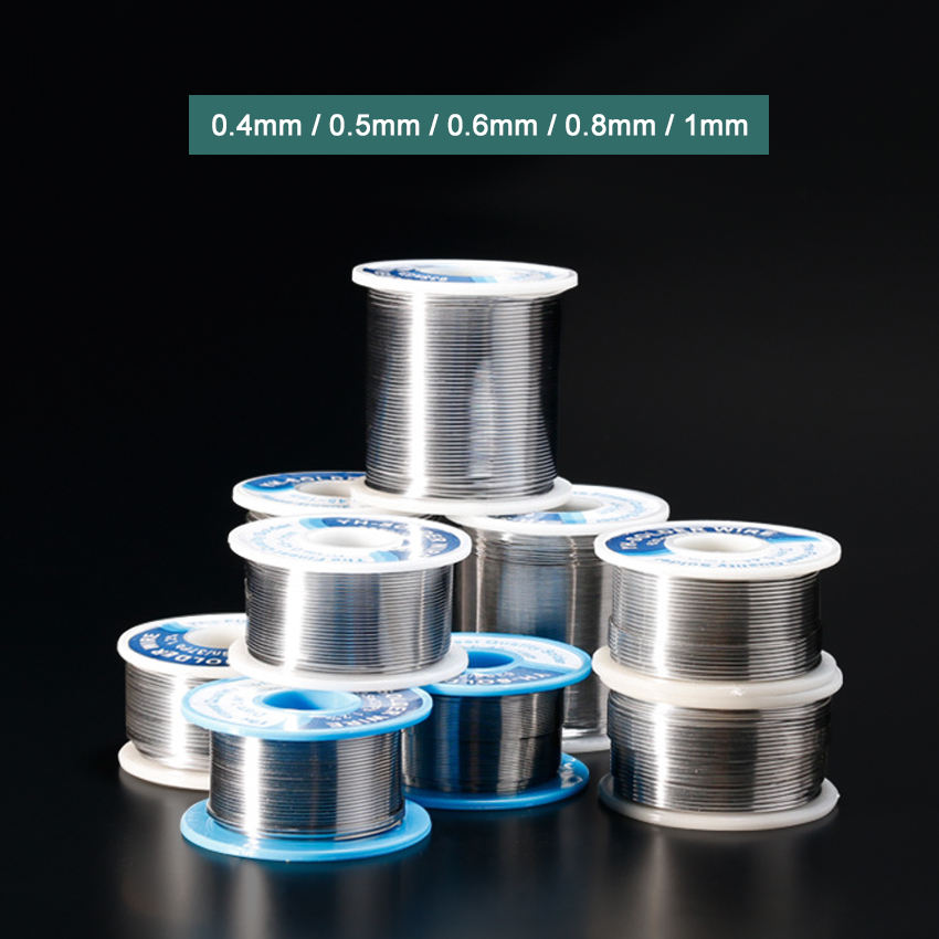 YIHUA Solder Wire Rosin Core Tin Lead Soldering Tin Wire Reel With Flux 0.4mm 0.5mm 0.6mm 0.8mm 1mm Welding Solder Wires Roll