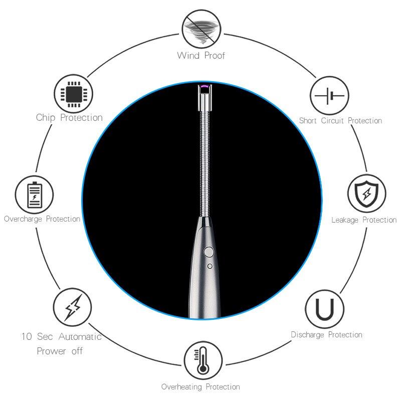 Новая креативная сменная батарея импульсная дуговая Электронная Зажигалка Ветрозащитная USB зарядка Зажигалка импульсная плазменная Зажиг...