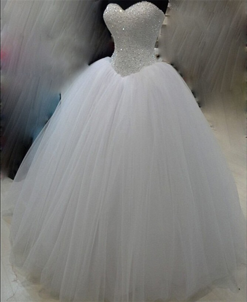 Romantic sweetheart corset wedding dress hot sale beading for White corset wedding dress