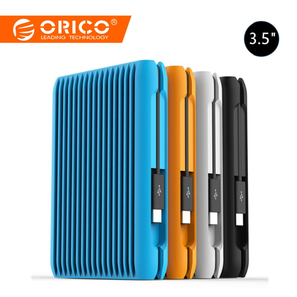 Orico 2 TO Disque Dur USB 3.1 Gen2 TYPE-C 3.5 Sata 10gbps Haute Vitesse Externe Antichoc Disques Durs HDD Ordinateur Portable Prise UE