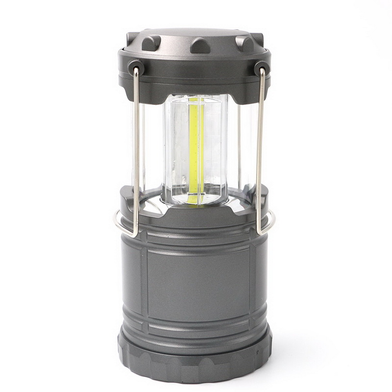 COB Power Portable Collapsible Outdoor LED Camping Lantern AA Battery Light Hiking Travel