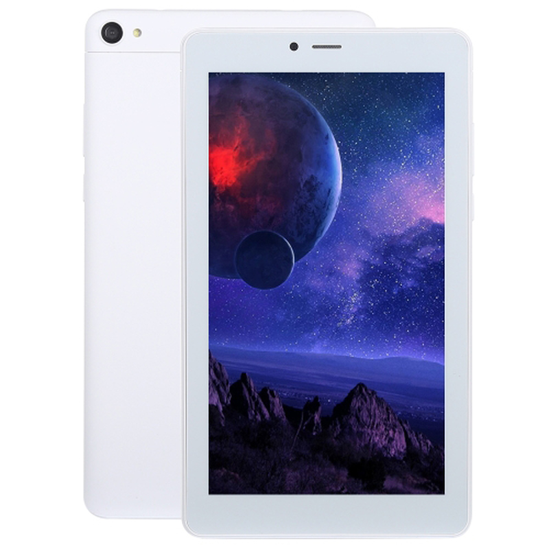 7.0 pouces tablette PC 3G téléphone Mobile 2 GB + 16 GB Android 8.1 double SIM Support Quad Core 1.5 GHz GPS WiFi Bluetooth BT (blanc) 10.9.8