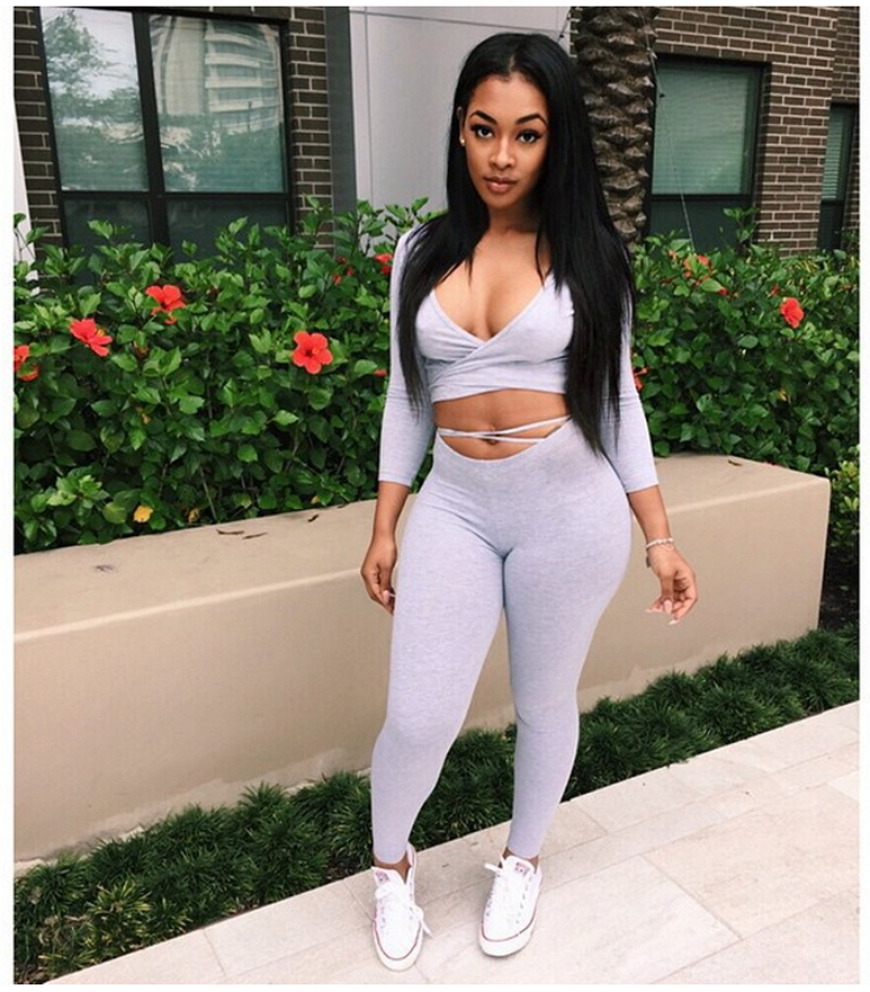 2018 summer style crop top and long pants set women two piece outfits ladies sexy club wear. Black Bedroom Furniture Sets. Home Design Ideas