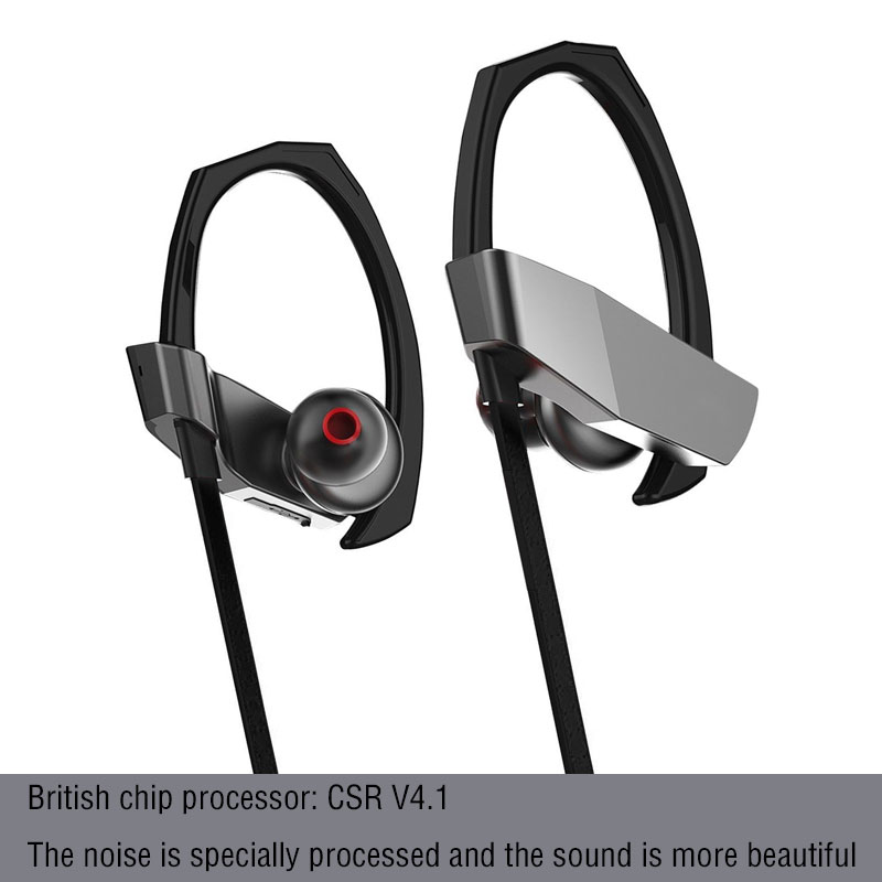 zaiyou bluetooth headphones IPX7 wireless headphone sports bass high HIFI speaker stereo earplug sound noise cancelling earphone