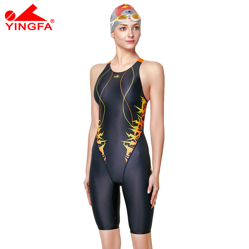 0aa71fd5560836 Yingfa2018 Racing Swimwear Women One Piece Swimsuit For Girls Swimming Suit  For Women Kids Swimsuit Competition