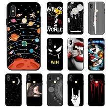 Ojeleye Fashion Black Silicon Case For Xiaomi Redmi S2 Cases Anti-knock Phone Cover Y2 Covers
