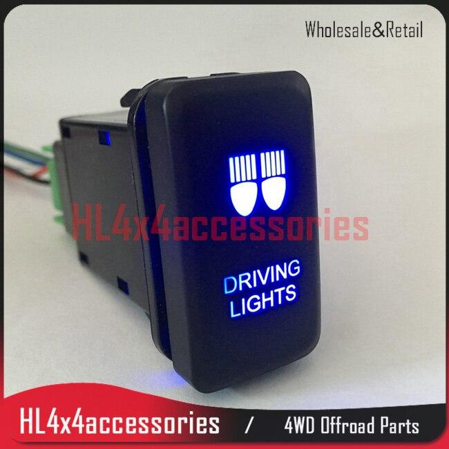 4×4 Свет автомобиля переключатель для Toyota Hilux Vigo FJ Cruiser Prado фиксацией ON-OFF автомобилей туман выключатель лампы нажмите кнопку свет Внедорожник …
