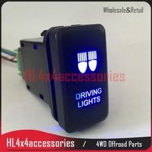 4x4 led car light switch for TOYOTA Hilux vigo FJ cruiser prado Latching ON-OFF Car Fog Lamp Switch Push Light Button SUV offroa