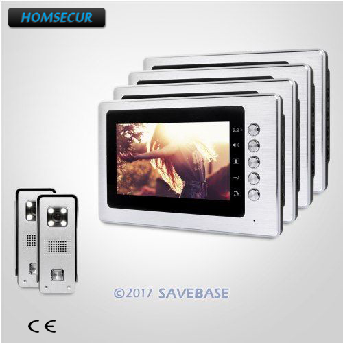 HOMSECUR 2V4 Video Door Phone Intercom System With Real-time Outdoor Monitoring Easy Installation
