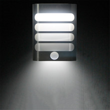 Wireless LED PIR Infrared Motion Sensor Wall Lamp Night Light Novelty for Bedroom Porch Hallways USB or Battery powered