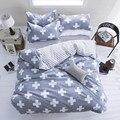 New Fashion Bedding Set 4 pcs/3 pcs Conjuntos Capa de Edredão de Poliéster Macio Roupa De cama Plana Folha de Cama Set Fronha Home Textile Gota navio