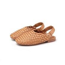 MHYONS Ins super fire children's sandals Korean girls woven shoes