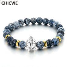 Chicvie серебряный цвет римский воин шлем гладиатора браслет