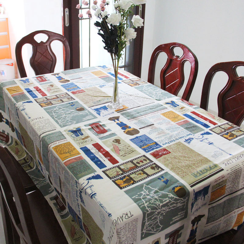 product Traditional Chinese Southeast Asia Cotton Tabel Cloth Rectangle Table Cover Striped Pattern Type Pastoral Home Textile Dec