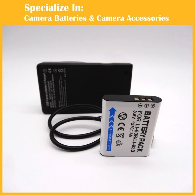 High capacity Digital Camera Camcorder battery charger LI 90B LI90B for Olympus