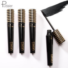 Pudaier Deep Black Eyelash Mascara Waterproof Long Lasting Natural Curling Lash Lengthening Professional Makeup 4D Eye Mascara купить недорого в Москве