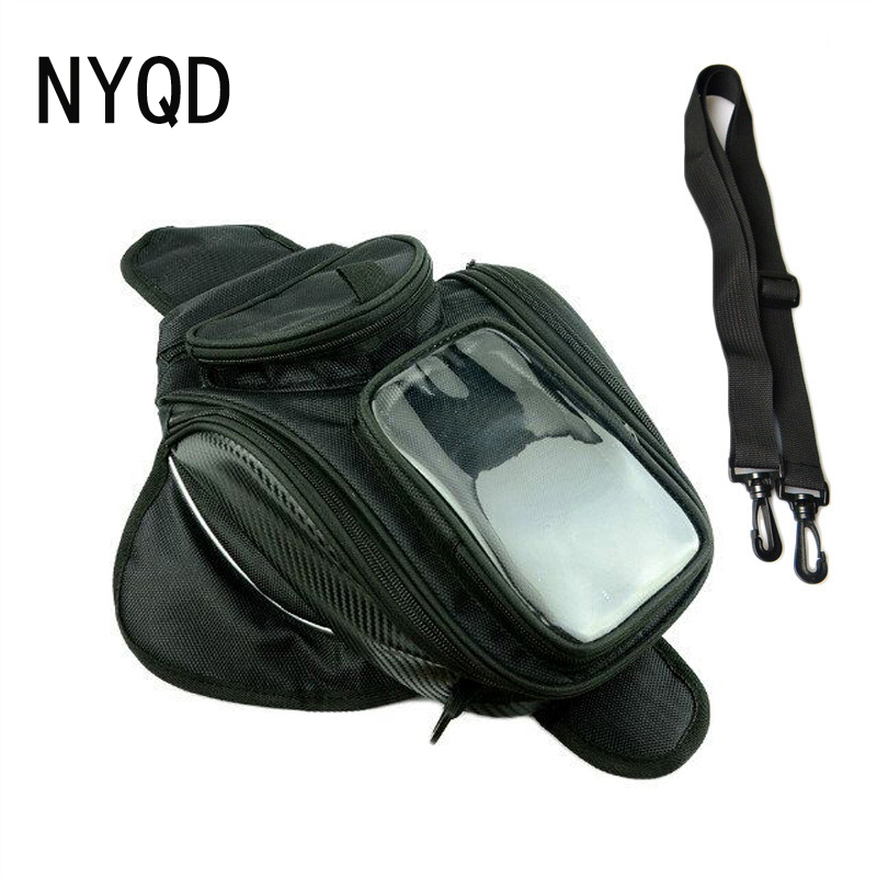 Big screen Motorcycle Magnetic tank bag oxford warterproof motocross top case Outdoor travel luggage moto bags wholesale