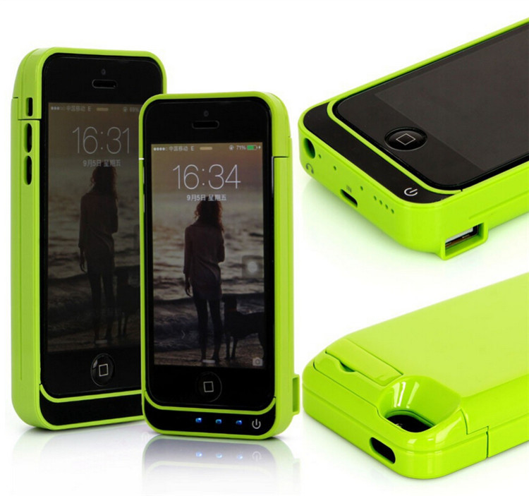 8 Colors Mini Power case For iPhone 5s 5 5c 4200mah Portable Charger Rechargeable External Backup