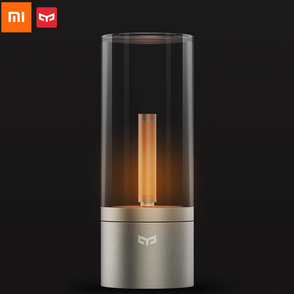 Xiaomi Mijia YEELIGHT Candela Light Smart Control led night light Atmosphere light for Mi home app smart home kits xiaomi mijia yeelight portable led makeup mirror with light dimmable and smart motion sensor night light for xiaomi smart home