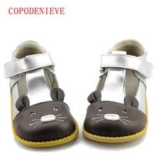 COPODENIEVEGirls 공주 신발 여자를위한 가을 진짜 가죽 아이들 신발 꽃 아이 샌들 패션 아기 유아 신발