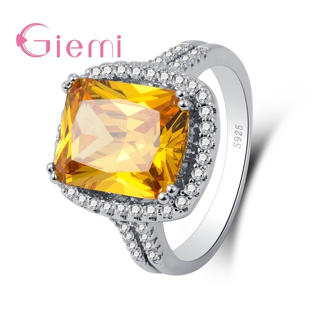 c1990f857 GIEMI High Quality 925 Sterling Silver Alluring Brilliant Marquise  Engagement Rings Clear CZ For Women Original Classic Jewelry